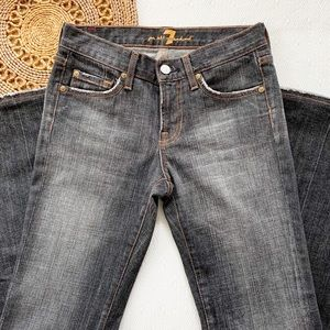 7 For All Mankind Jeans sz26 Bootcut Black washed